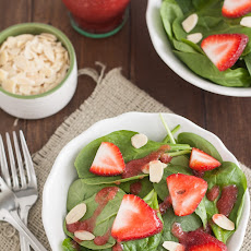 Spinach Salad with Strawberry Champagne Vinaigrette