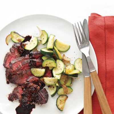 Balsamic Steak with Garlic Zucchini