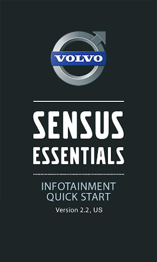 Volvo Sensus Quick Start Guide