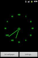 Screenshot of Minimalistic Clock Wallpaper