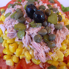 Tuna, Bean and Sweetcorn Salad
