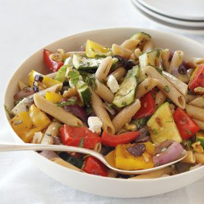 Pasta with Grilled Vegetables and Herbs