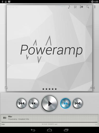 Skin for Poweramp Light Metall - screenshot