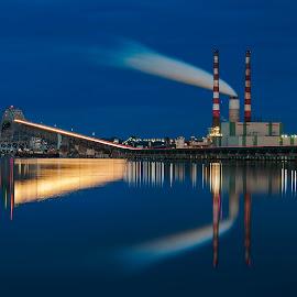 Harry Nice Bridge by David Kiel - Buildings & Architecture Bridges & Suspended Structures ( md, blue hour, nice, bridge, potomac river )
