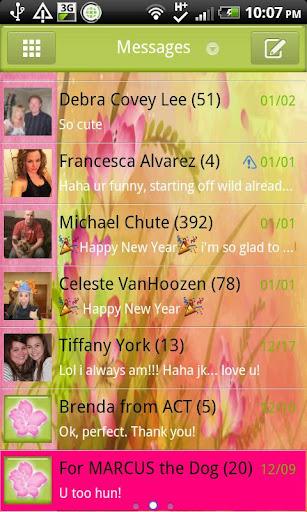 GO SMS - Floral Pastel