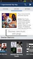 Screenshot of Jango Radio