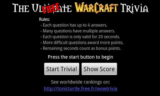WoW Trivia - Free Version
