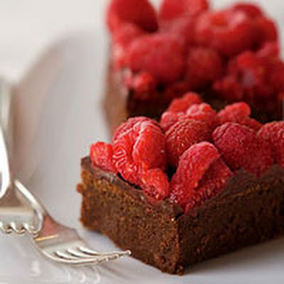 Chocolate-Raspberry Truffle Bars