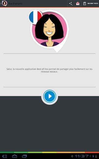 Eva voice (French) - screenshot
