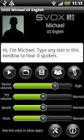 Screenshot of SVOX US English Michael Trial