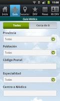 Screenshot of Guía de Médicos. DKV Seguros.