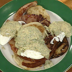 Emeril's Egg Benedict with Country Ham, Poached Eggs and Fresh Herb Hollandaise