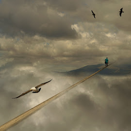 Crossing The Line. by Michael Dalmedo - Digital Art Things