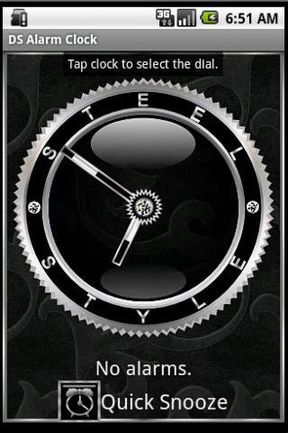 銀目覚まし時計ウィジェット