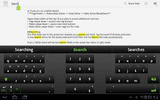 Screenshot of Flick Note