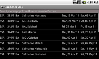 Screenshot of AfricanSchedules
