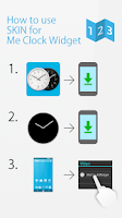 Screenshot of Modern clock widget W-Me Clock