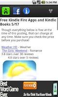 Screenshot of Kindle Fire Department