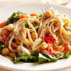 Linguine with Chickpeas & Arugula