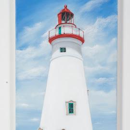 Marblehead by George Kurka - Painting All Painting ( landmark, lighthouse, oil )