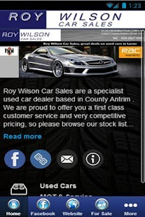 Roy Wilson Car Sales - screenshot
