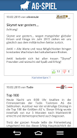 Screenshot of AG-Spiel.de Börsenspiel Aktien
