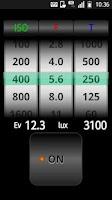 Screenshot of SmartLightMeter