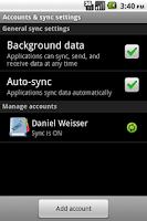 Screenshot of XING Sync
