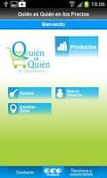 Screenshot of Quién es Quién en los Precios