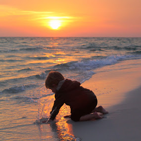 by Katie McKinney - Babies & Children Children Candids ( splash, nature, sunset, play, sea )