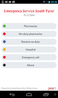 Screenshot of Emergency medical Southtyrol