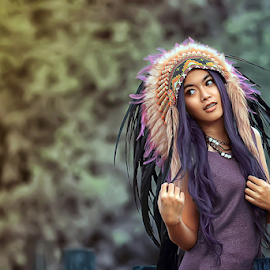 Faradibha Nahyaa by Septyadhi  Gunawan - People Portraits of Women ( canon, face, pose, model, girl, pixoto, indian, beauty, hair )
