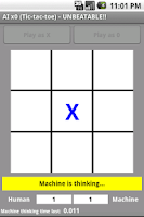 Screenshot of AI x0 Tic Tac Toe UNBEATABLE!!