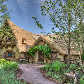 Seven Dwarfs Cottage by David DeLoach - Buildings & Architecture Homes ( disney world, cottage, magic kingdom, country home, seven dwarfs )