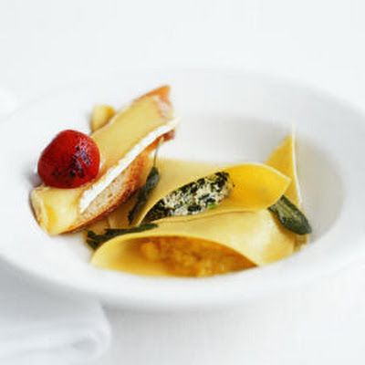 "Spinach and Acorn Squash ""Ravioli"""