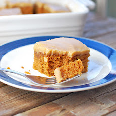 Pumpkin Bars with Old-Fashioned Caramel Frosting