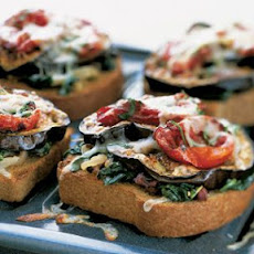 Vegetable Melts on Garlic Toast