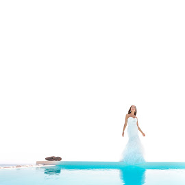 by Alexander Hadji - Wedding Other ( pool, wedding, greece, bride )