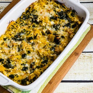 Twice-Baked Spaghetti Squash with Kale, Feta, and Mozzarella