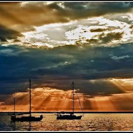 Sun Set by Glenn Edmiston - Landscapes Sunsets & Sunrises