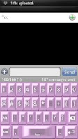 Screenshot of Pink Pearl Keyboard Skin