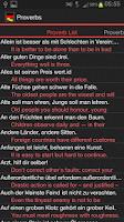 Screenshot of German Proverbs