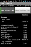 Screenshot of Debits and Credits Trainer