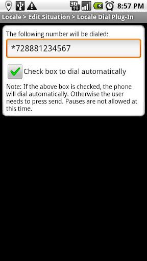 Locale Dial Plug-In