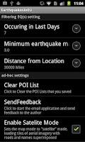 Screenshot of Earthquakes In Europe Regi
