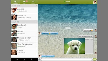 Screenshot of BeejiveIM for Google Talk Free