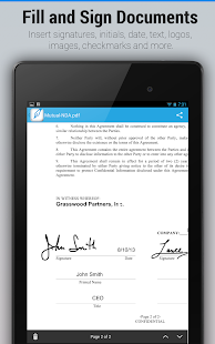 Screenshots  SignEasy:Sign & Fill Documents