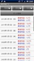 Screenshot of 過去気温ナビ