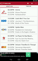 Screenshot of TV Guide India