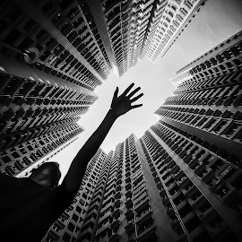 Residensity by Eloa Defly - Buildings & Architecture Other Exteriors ( hand, macao, instagram, black and white, housing, public housing, asia, macau, architecture, eloa defly, residensity )